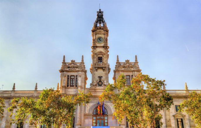 Casa-Consistorial-the-City-Hall-of-Valencia-iStock-628196360