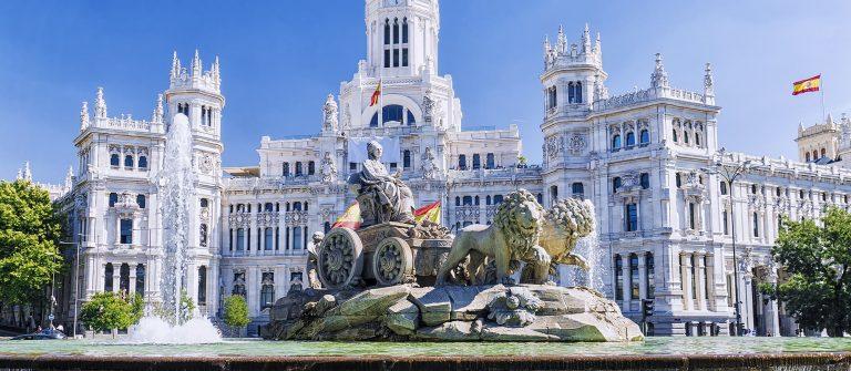 Cibeles fountain in Madrid, Spain_556870582