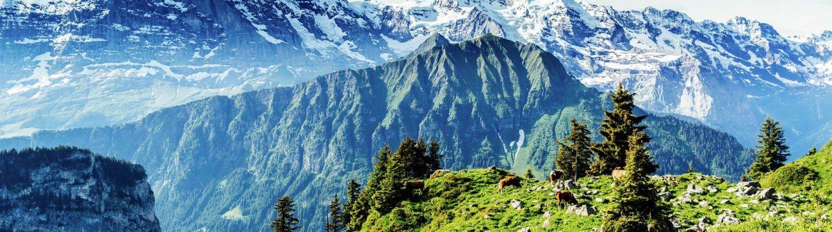 From left, Eiger, Monch, Jungfrau,landscape
