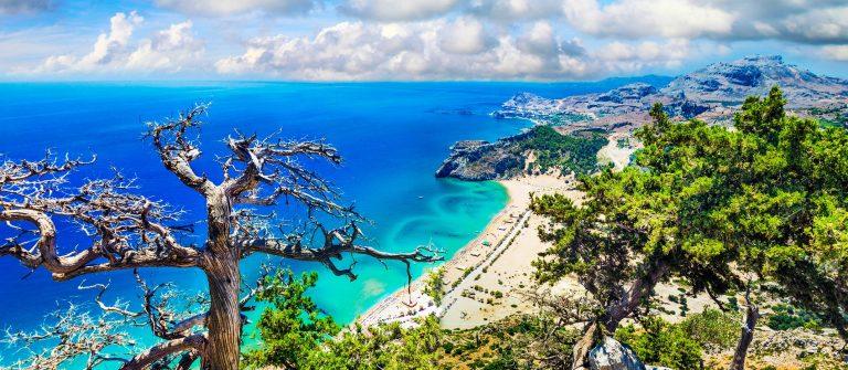 Impressive Beach Of Rhodes Island,Greece.
