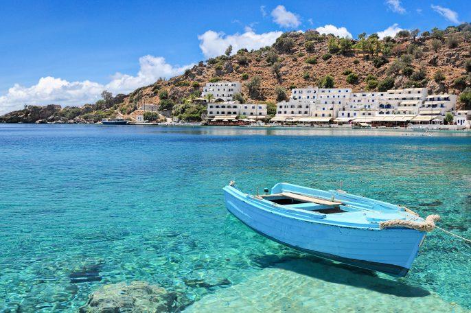 Crete, village of Loutro