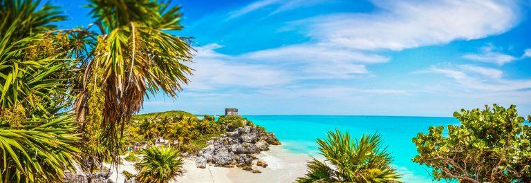Mayan Ruins. Tulum Beach. Caribbean Paradise