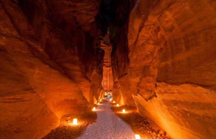 Petra, Jordan at Night