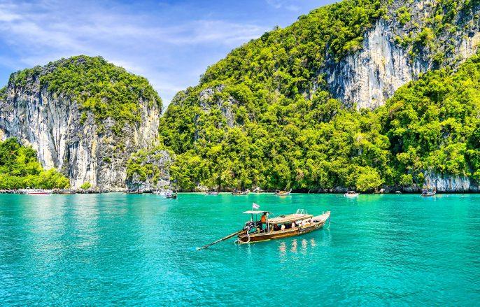 Thailand boat at Phuket island landscape shutterstock_616065782