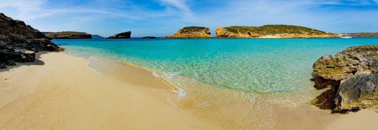 The Blue Lagoon on Comino Island, Malta Gozo shutterstock_319708925