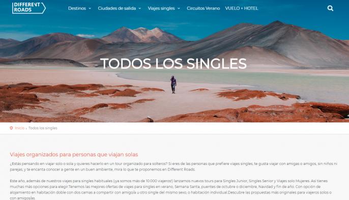 viajes para singles