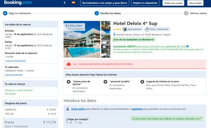 Hotel en Benidorm