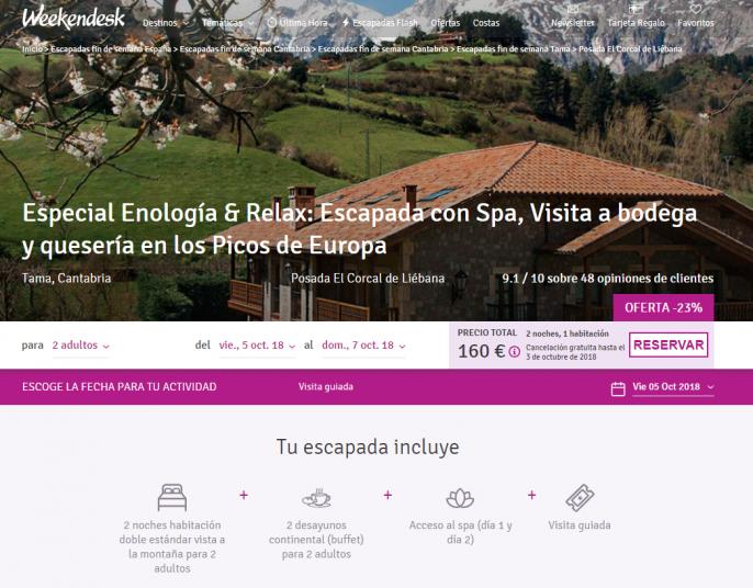 hotel en los picos de europa