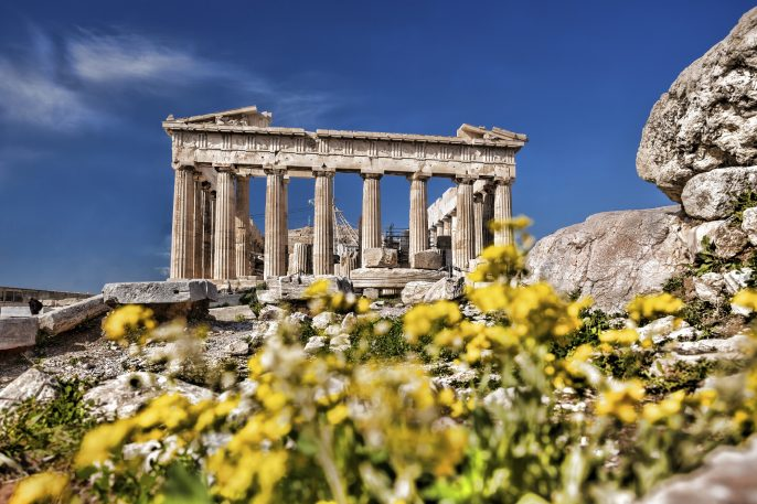 Acropolis with Parthenon temple in Athens iStock_000066332307_Large_pix2000
