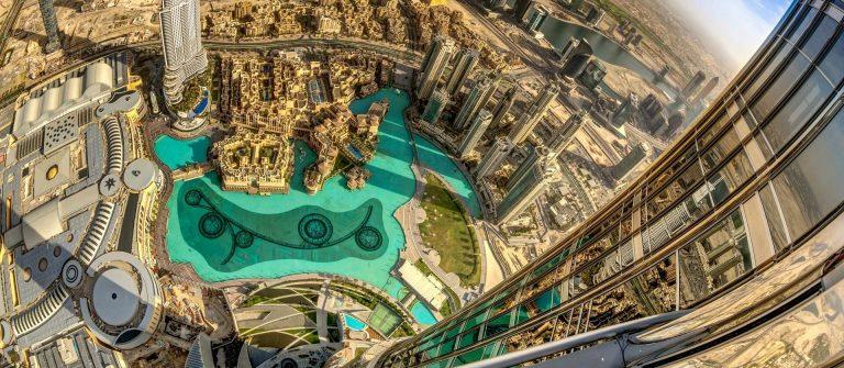 Burj Khalifa, Dubai At the Top View iStock-500143335