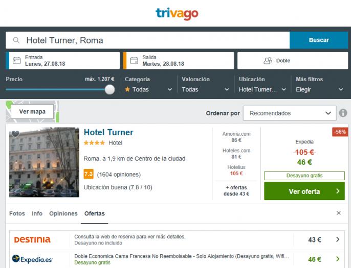 hotel en roma verano