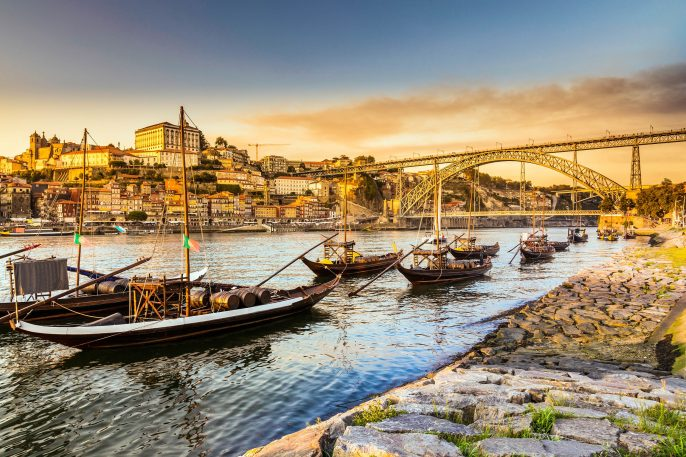 The Rabelo boat on the Douro River in Porto