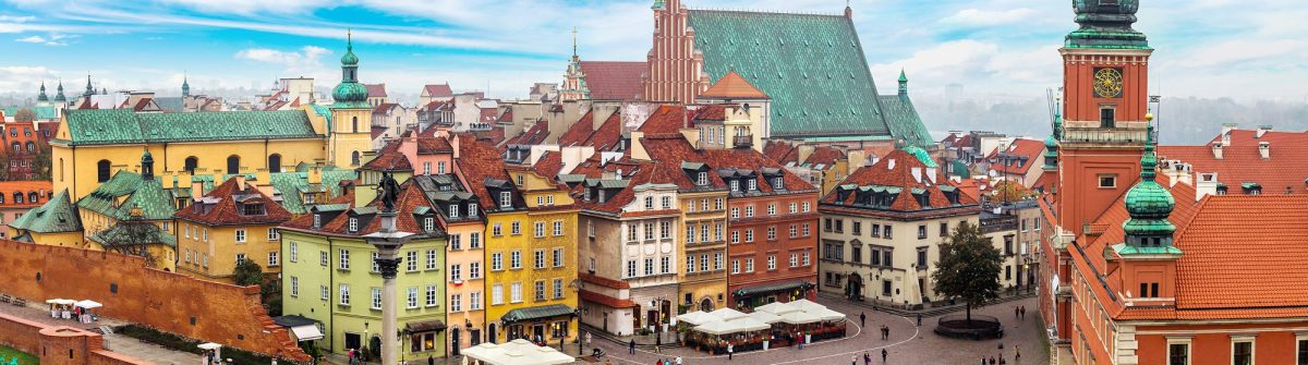 Panoramic view of Warsaw in a summer day n Poland_shutterstock_348329885