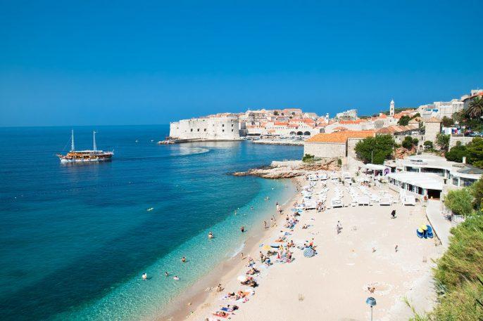 Panoramic view on the beautiful beach in Dubrovnik, Croatia shutterstock_70328647