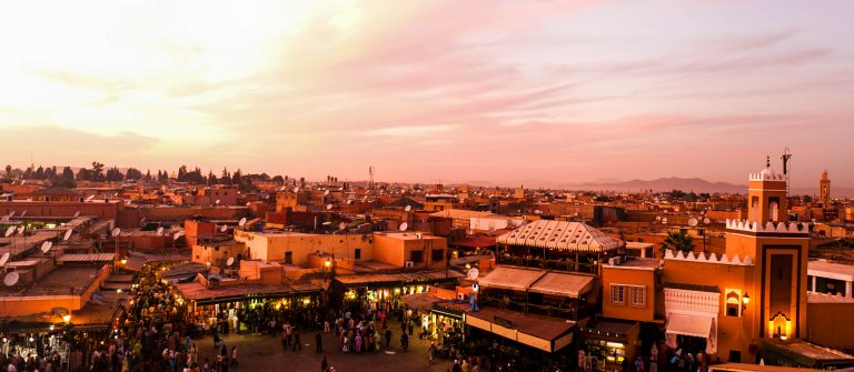 Sunset in Marrakesh, Morocco shutterstock_93335773-2