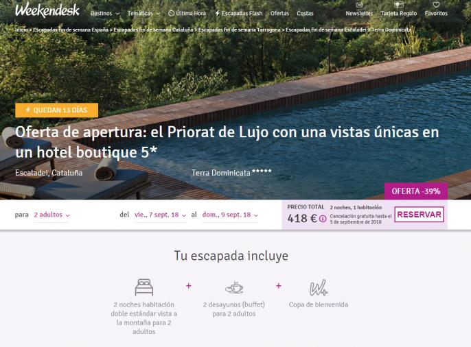 hotel en Tarragona con infinity pool