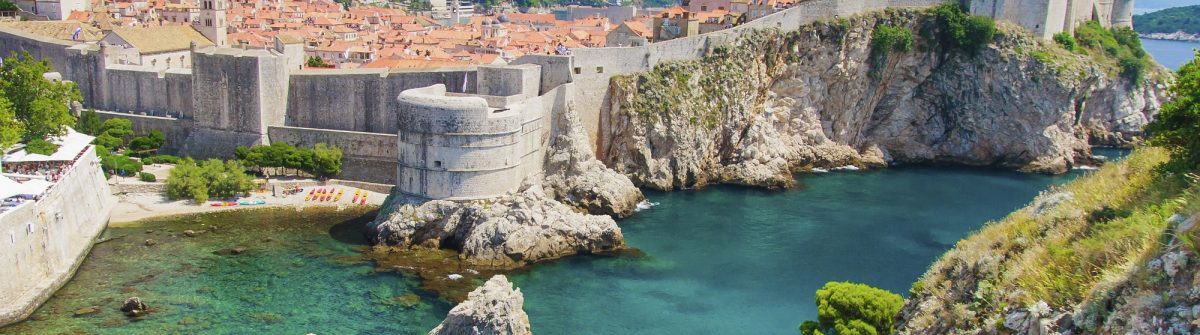 Dubrovnik-in-Croatia-Scenic-view-on-city-walls-iStock_000023855600_Large