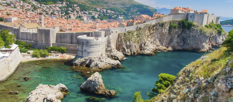 Dubrovnik-in-Croatia-Scenic-view-on-city-walls-iStock_000023855600_Large