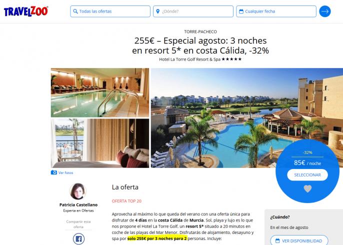 vacaciones en resort de Murcia