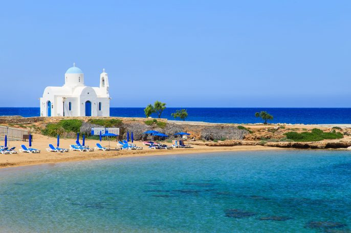 White-church-on-a-shore-in-Protaras-near-Aiya-Napa-Cuprus_shutterstock_195020711