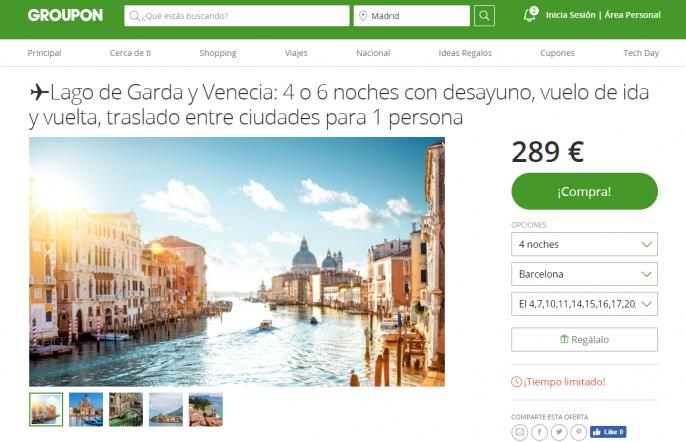 circuito por el lago de Garda y Venecia