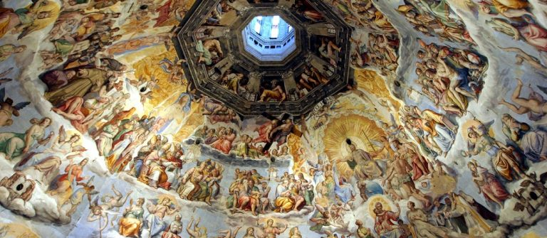 Florence-Italy-the-wonderful-masterpiece-of-The-Judgment-Day-inside-the-Dome_shutterstock_78670159-Copy
