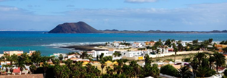 View from Corralejo to Lobos island