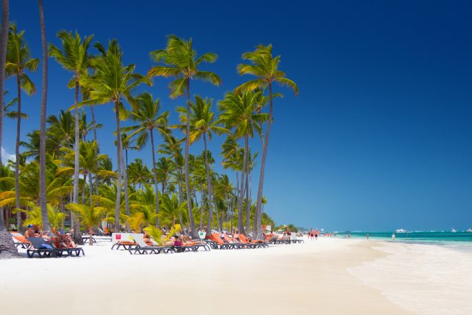 Tropical-beach-Bavaro-at-tourist-resort-in-Punta-Cana-Dominican-Republic-shutterstock_391772647