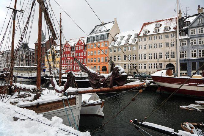 Winter in Copenhagen, Nyhavn.