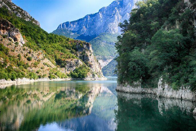 koman-lake-drin-river-albania