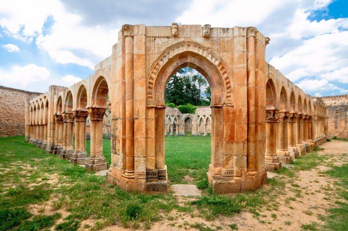cloister-of-San-Juan-de-Duero-Monastery-in-Soria.-Spain_302843852