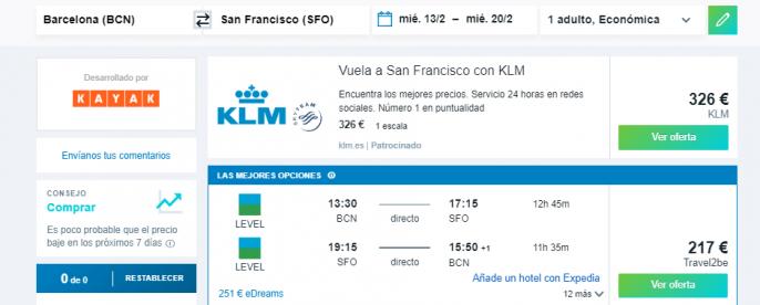vuelos a San Francisco