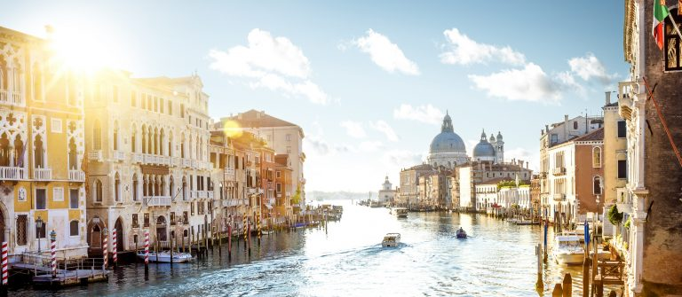 Venice landscape photo of Academia Bridge on Grand Canal