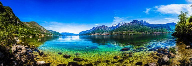 Como Lake Landscape Panorama, Italy