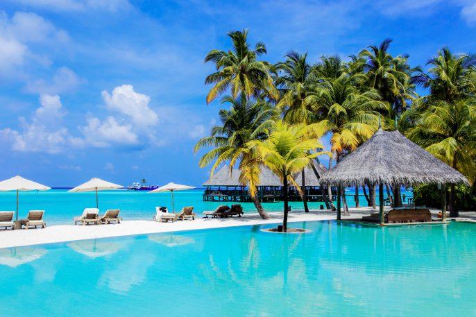 Tropical resort in Maldives.