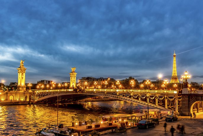 Paris La Seine River Night iStock_000055885906_Large