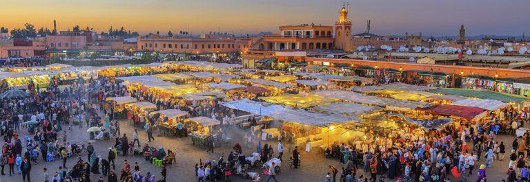 Djemaa El Fna Square Marrakesch iStock_000054422844_Large