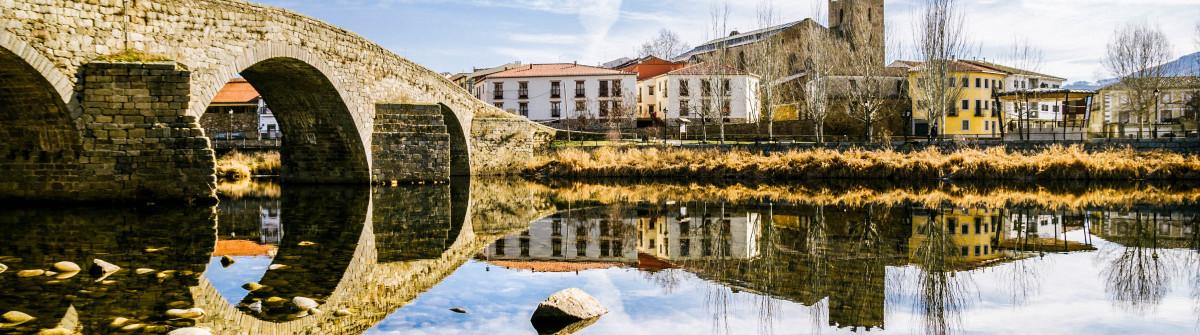 Romanesque bridge in El Barco de Ávila, Spain