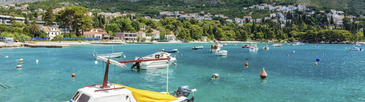 Coastal town Mliny located close to Dubrovnik, Croatia
