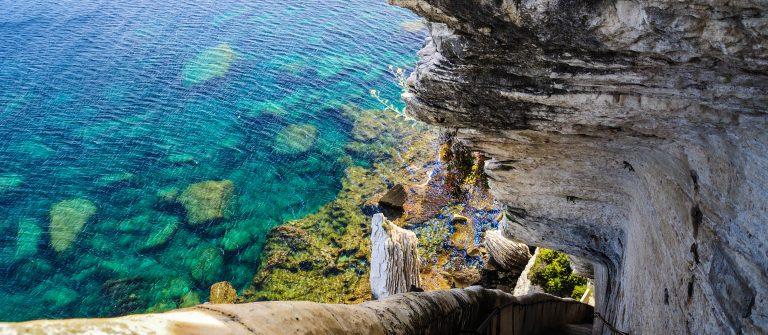 King Aragon's stairs, Bonifacio, Corsica shutterstock_63115732-2