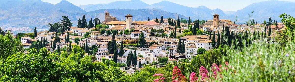 General view old city Of Granada, Spain