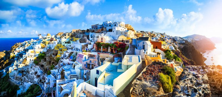 Panoramic view of Santorini, Greece iStock_000089536317_Large-2