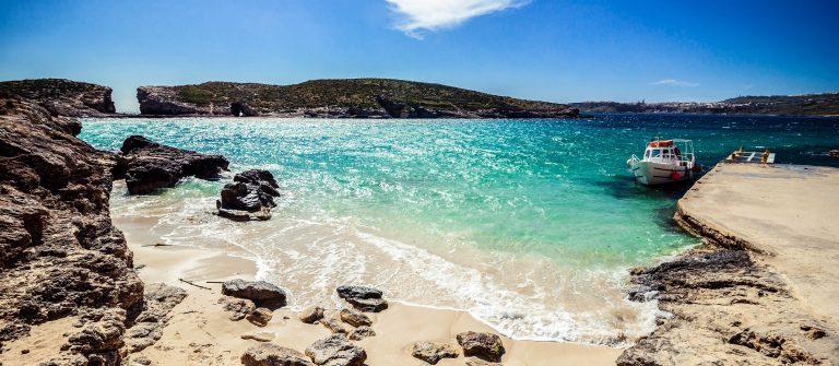 Sunny Blue lagoon on the Comino Island, Malta shutterstock_106005137-2