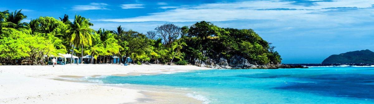 White sand beach. Malcapuya island, Coron, Philippines shutterstock_119983357-2