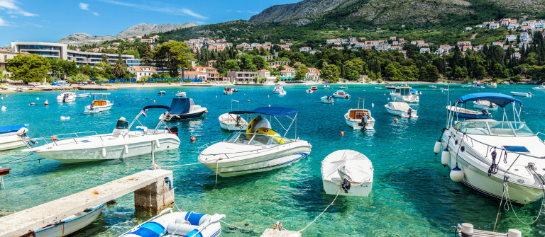 Coastal town Mliny located close to Dubrovnik, Croatia