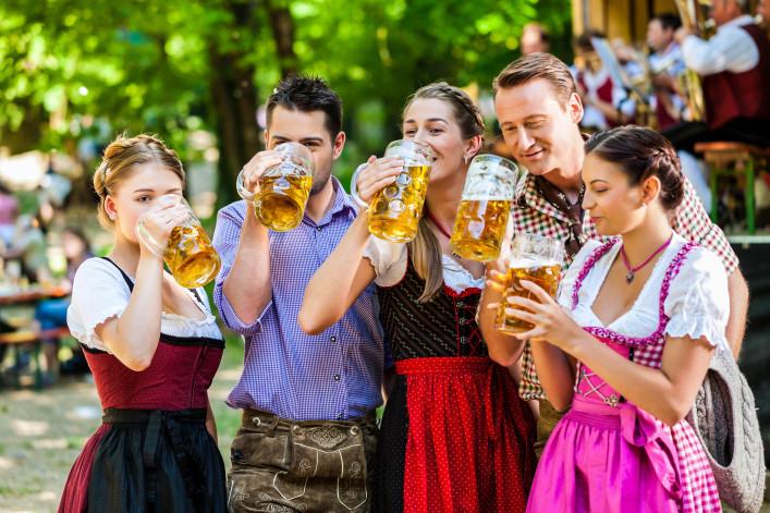 In Beer garden