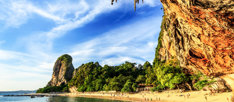 Thailand, Krabi. Phra Nang beach and cave.