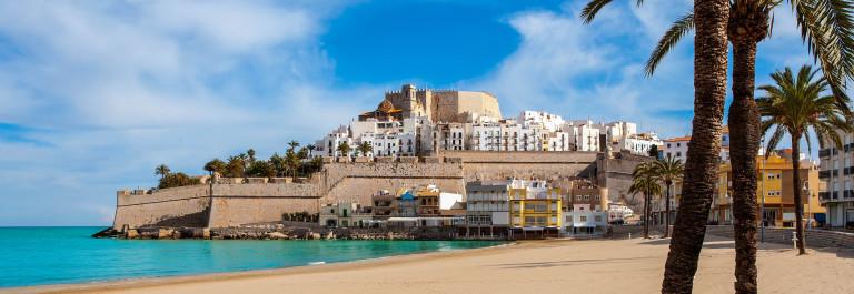 Peniscola Castle and beach in Castellon Valencian community of spain shutterstock_174368507-2