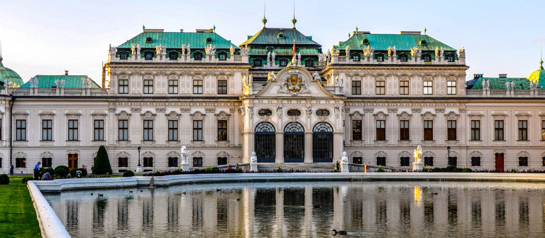 Palace Upper Belvedere in Vienna