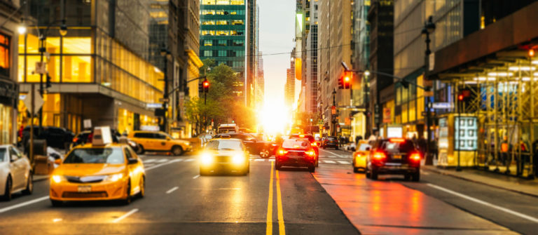 Manhattanhenge On 42Nd In New York